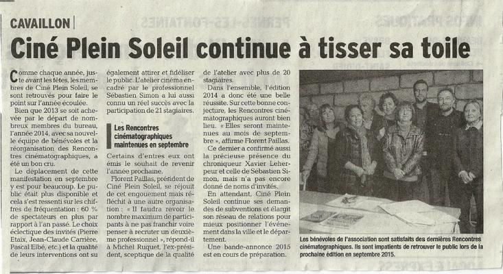 Vaucluse Matin - 27 décembre 2014