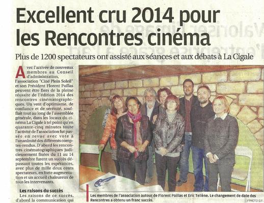 La Provence - 03 janvier 2015