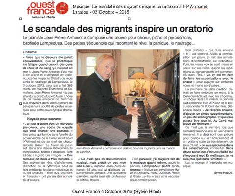 Ouest France 3 Octobre 2015