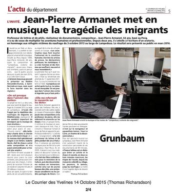 Courrier des Yvelines 14 Octobre 2015