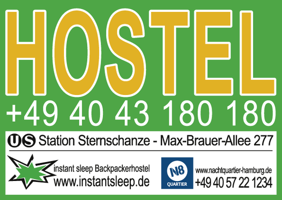 Instant Sleep Hostel - City Plakat ZOB