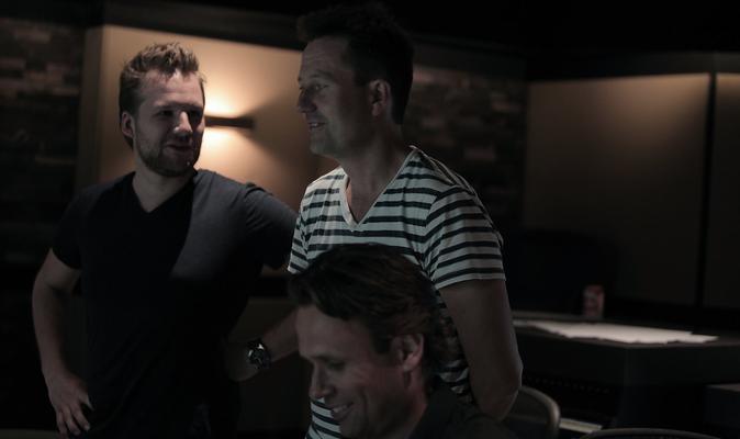 Dummie de Mummie Recording Session @ SMP Amsterdam - Composers Matthijs Kieboom & Martijn Schimmer With Director Pim van Hoeve