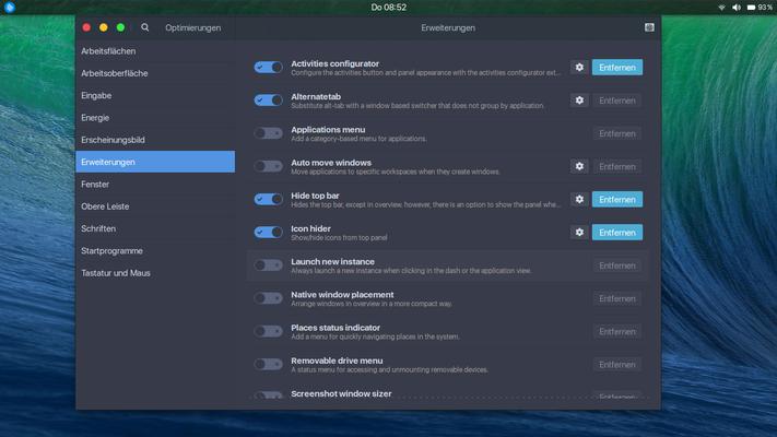 Viele Aspekte der GNOME Shell lassen sich mit Erweiterungen verändern und verbessern.