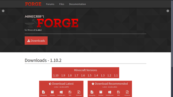 Forge Webseite