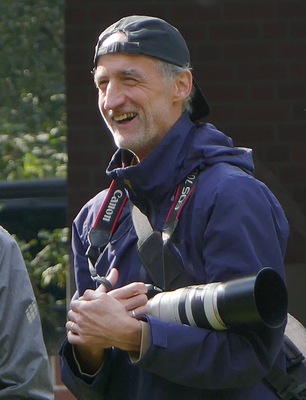 Dr. Jens Kerl ganz professionel ausgerüstet