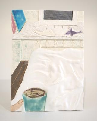 ベッド,2018/205×145mm/陶器/2018