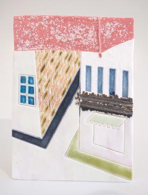 雨のアムステルダム,2011/225×165mm/陶器/2018