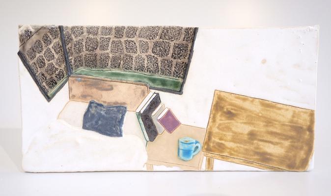 私の部屋(陶芸の森レジデンス),2018/135×270mm/陶器/2018