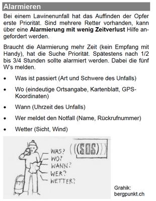 Alarmierung  (http://www.bergfreunde-muenchen.de/lawine/lvs-ortung.pdf)