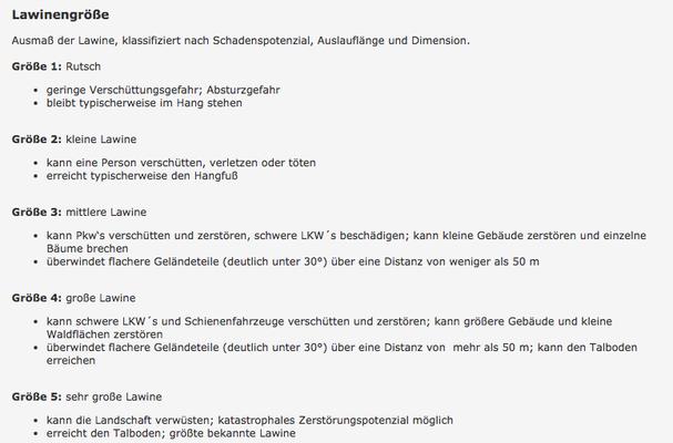 Lawinengrössen (http://www.avalanches.org/eaws/en/includes/glossary/glossary_de_all.html)