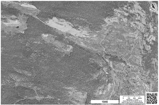 historische Luftaufnahmen der US Air Force von 1946 auf dem Kartenportal des Bundes (map.geo.admin.ch)