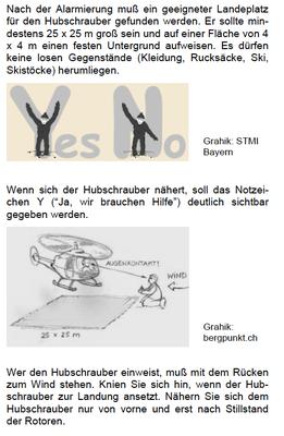 Einweisung Flugrettung / Helicopter  (http://www.bergfreunde-muenchen.de/lawine/lvs-ortung.pdf)