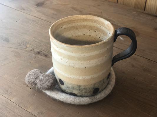 ボーダーマグカップ(水玉)