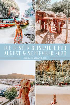Finde die besten Reiseziele für August und September 2020! Du überlegst dir, wohin du im August reisen solltest? In meinem Blogbeitrag stelle ich dir tolle Reiseziele für den Sommer 2020 zwischen Juli, August und September zusammen. Die beste Reisezeit, I