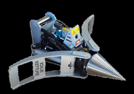 Black Splitter SG1 Kegelspalter / Holzspalter / Holzgreifer / Spalter / Greifer
