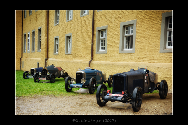 v.l.n.r.: Rally NCP (1931); Mathis P (1923); Amilcar CS Special (1924) & EHP Torpedo (1927)