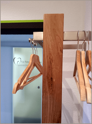 Garderobe in der Praxis