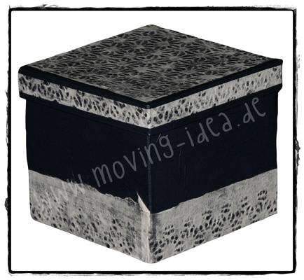 Schachtel mit Spitzenpapier