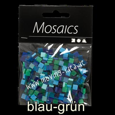 Kleine Quadratische Mosaiksteine blau-grün