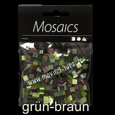 Kleine Quadratische Mosaiksteine grün-braun