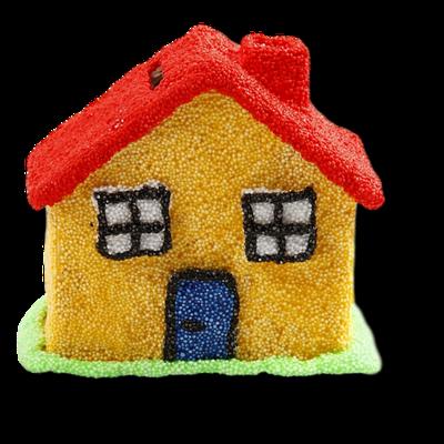 Spardosen-Haus aus Holz mit Foam-Clay