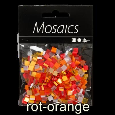 Kleine Quadratische Mosaiksteine rot-orange
