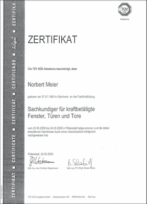 Zertifikat 24.05.2006