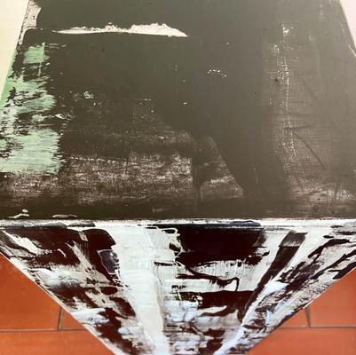 Dreidimensionales Bildobjekt Acryl auf MDF Quader 30 x 70 x 30 cm