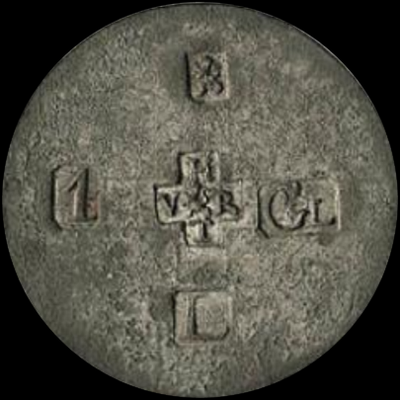 1 gulden gevangenisgeld Leeuwarden blik