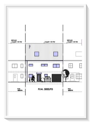 Bauplanung_Bauantrag_Ausführungsplanung_Baiersdorf-Ansichtszeichnung Ost