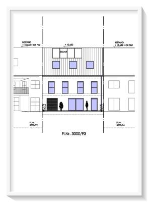 Bauplanung_Bauantrag_Ausführungsplanung_Baiersdorf-Ansichtszeichnung West