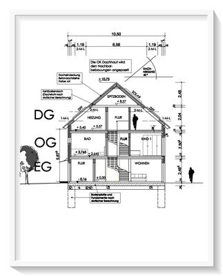 Bauplanung_Bauantrag_Ausführungsplanung_Baiersdorf-Schnittzeichnung
