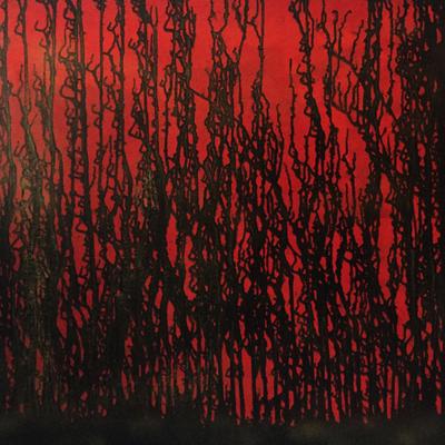 Waldbrand (Acryl auf Leinwand)
