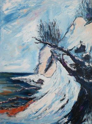 Ostsee im Winter  (Öl auf Leinwand)