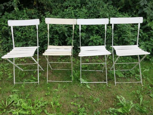 € 200,00 – Gartenstühle mit Eisenlehne, sehr selten