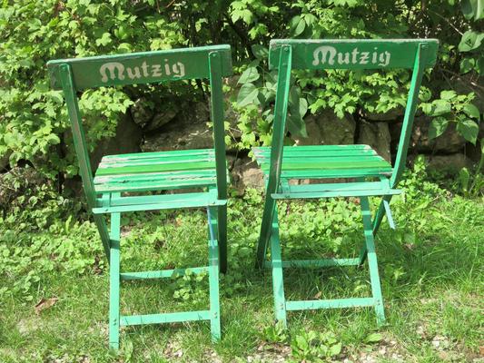 € 85,00 – Mutzig, elsässer Brauereistühle, Eisengestell