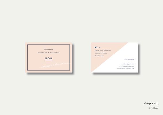 デコレーション&アクセサリーのNOBのショップカード
