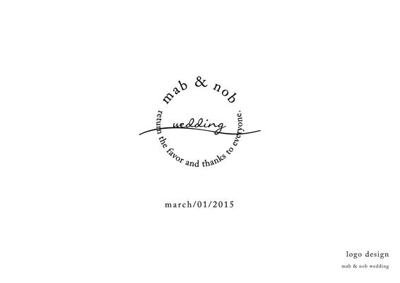友人夫妻のウェディングロゴ