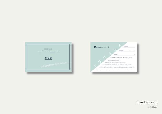 デコレーション&アクセサリーのNOBのメンバーズカード