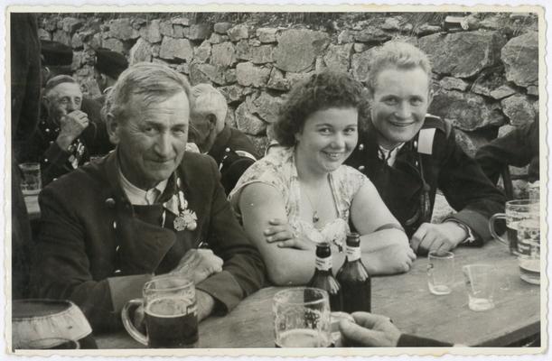 v.l. Franz Hintermayr, ganz rechts Hermann Richter