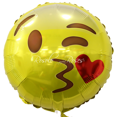 Ballon Smiley bisous