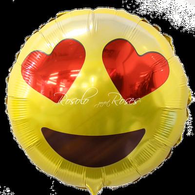 Ballon Smiley coeur