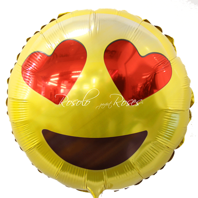 Ballon Smiley coeur