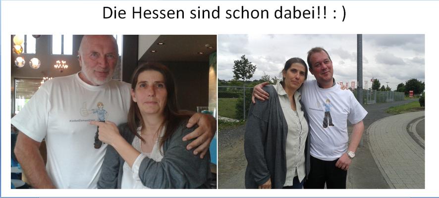 """Wolfgang Thust für """"Helping Hand"""" und Maiko Büchl für """"Sunrise Interessensverband für Menschen mit Behinderung"""""""