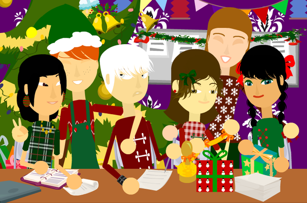 De gauche à droite : Catalena, Sushimimi, Koushak, ThirtySeven, Lovemydreams, YumiMangaCat