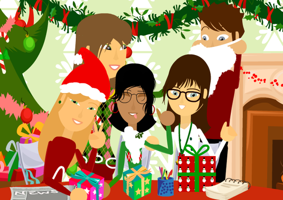 De gauche à droite : LakPowa, WonderfulLiife, ini974, MiniSunshiine, TheoC