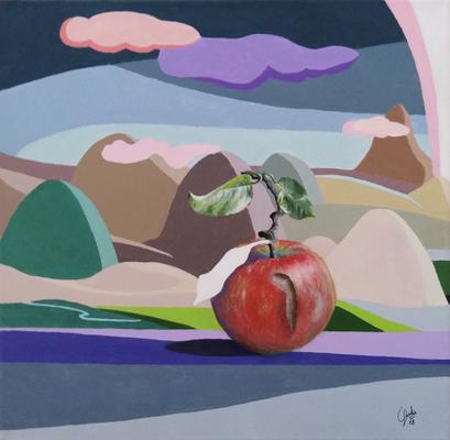 """2018 - """"Di vita e di morte"""",  acrilico su tela - """"life or death""""acrylic on canvas - 40x40 cm"""