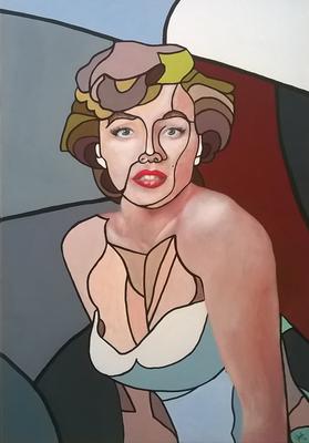 "2017 - ""Marikyn"" acrilico su tela - acrylic on canvas - 50x70 cm"