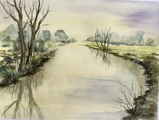 Flussufer  30x40