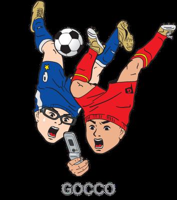 GOCCO_ワールドカップ速報動画配信_キャラクター_ポスター